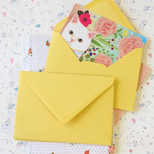 citron yellow vintage series c6 banker envelopes