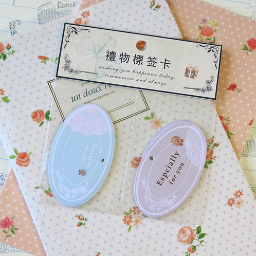 especially for you oval vintage style message gift tags