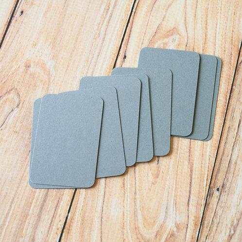 medium grey blank business cards