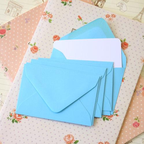 pale blue colour mini envelopes & note cards