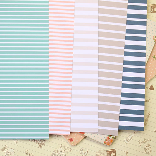 set 01 sea stripes printed card stock