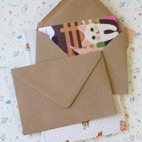 plain kraft brown c6 banker envelopes