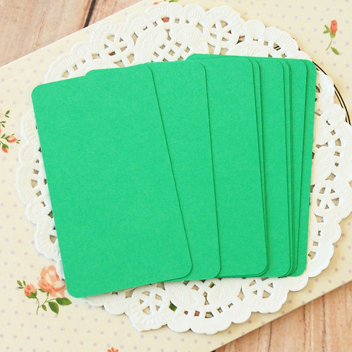 emerald green blank business cards