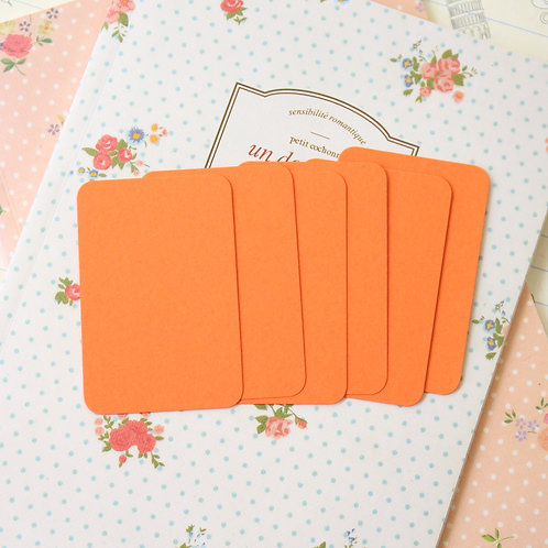 mandarin orange papermill colour blank business cards