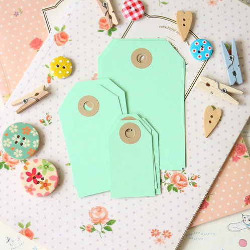 light spring green papermill series luggage gift tags