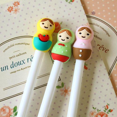 russian doll cartoon pens
