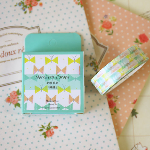butterfly northern europe nordic series washi tape