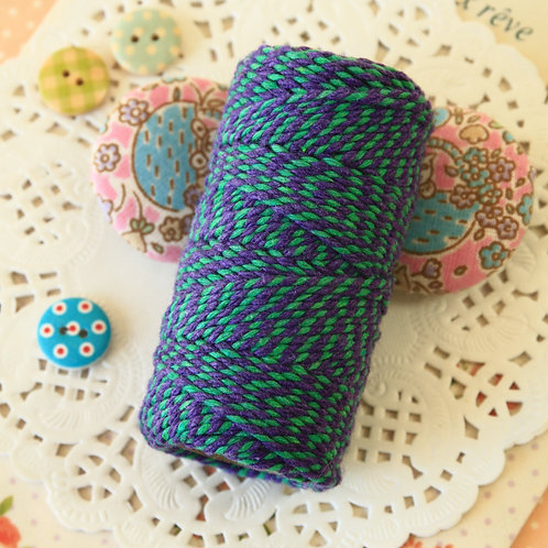 violet & green two tone everlasto bakers twine 20m