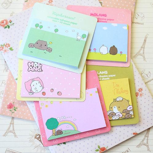 molang potato rabbit memo it cartoon sticky notes