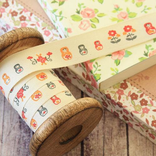 russian dolls cartoon cotton sewing tape ribbon