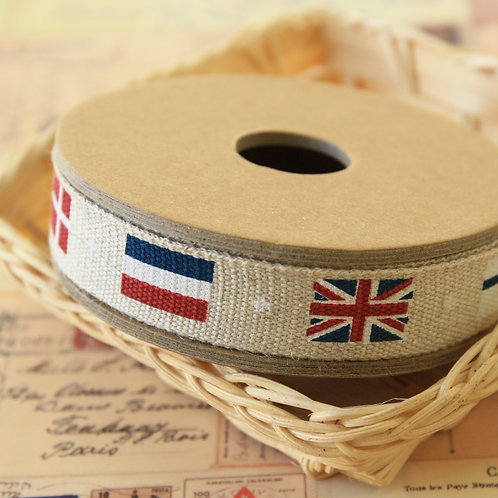 country flags cartoon cotton sewing tape ribbon
