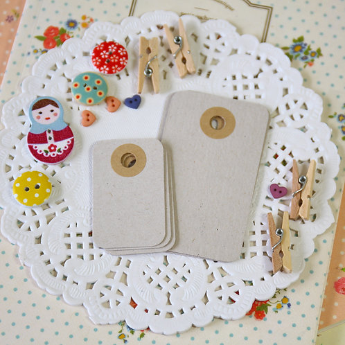 chipboard grey rounded rectangle tags