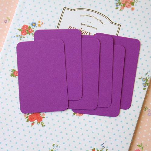 purple grape papermill colour blank business cards