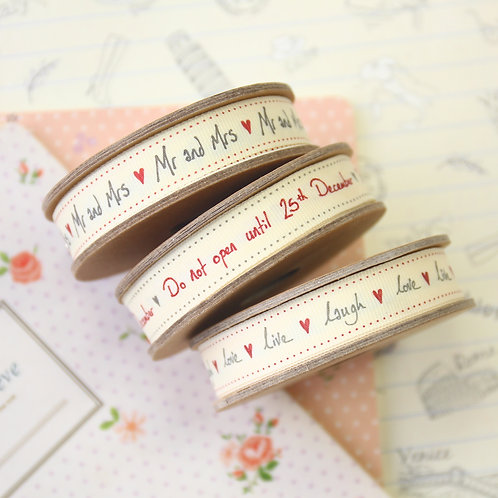 east of india handwritten ribbons