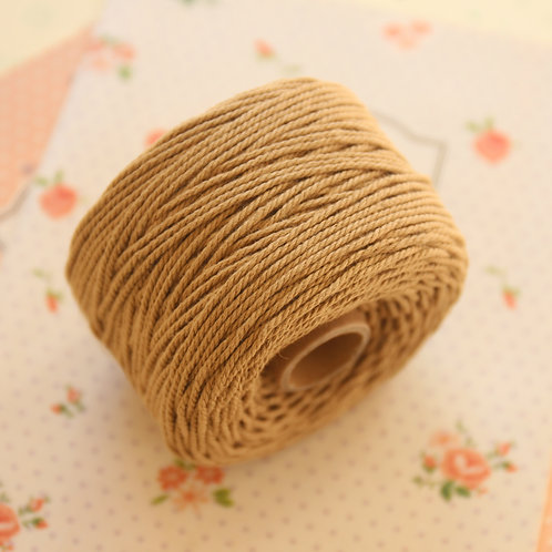 golden brown twisted cotton bakers twine 80m