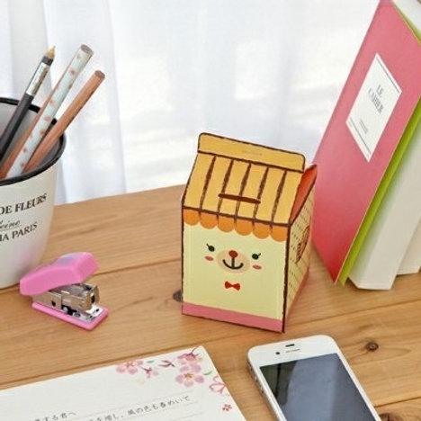 cutie paper coin box milk carton style