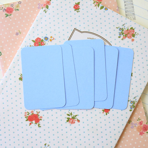marine blue papermill colour blank business cards