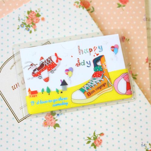 happy day cartoon card pocket holder