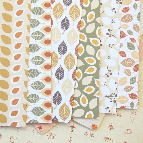 fall autumn leaves printed card stock