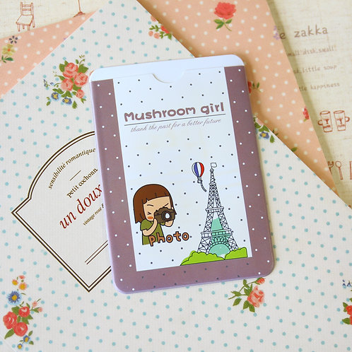 eiffel mushroom girl cartoon card holder