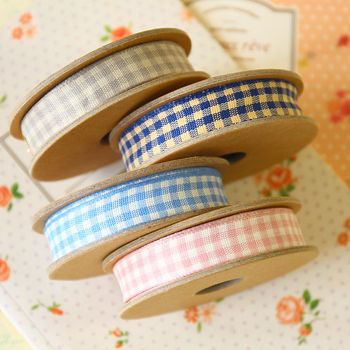 east of india gingham ribbons