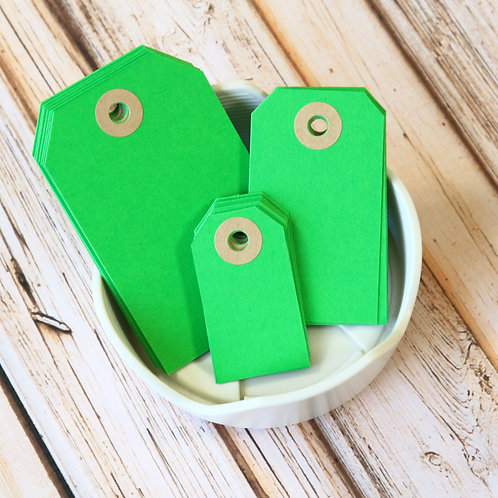 spring green colour luggage tags