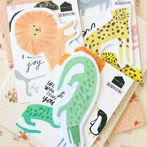 safari animals cartoon sticky notes