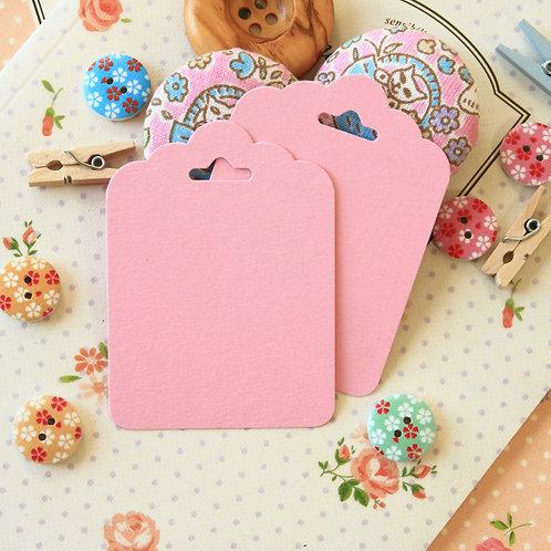 pastel pink ornate scallop tags