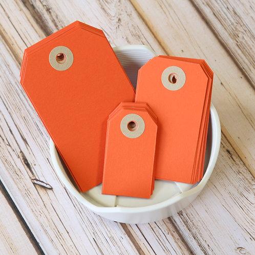 mango orange colour luggage tags
