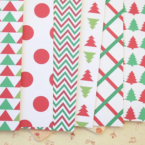 set 04 christmas patterns printed card stock