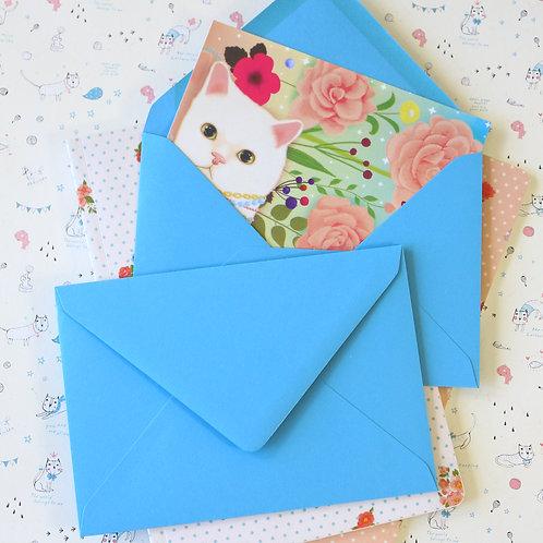 sky blue vintage series c6 banker envelopes