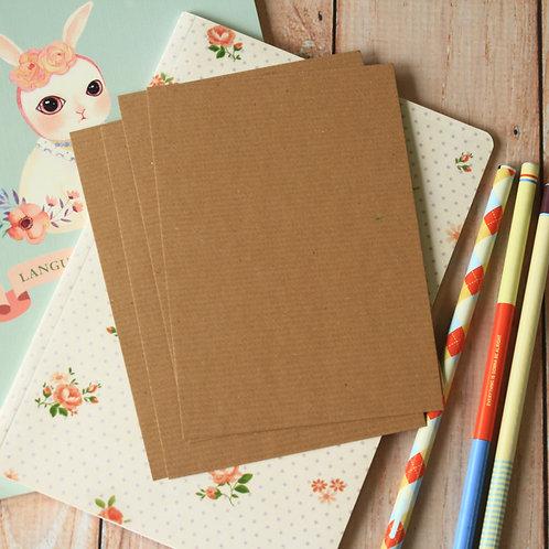 textured kraft brown eco postcard blanks