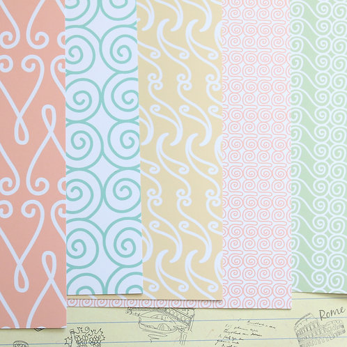 set 04 line patterns mix printed card stock