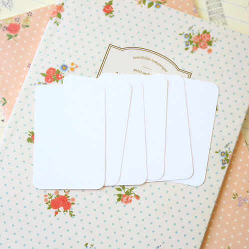 bright white papermill colour blank business cards