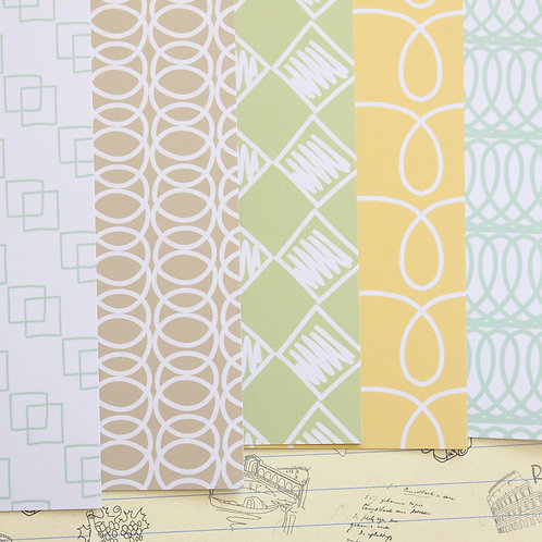 set 02 line patterns mix printed card stock