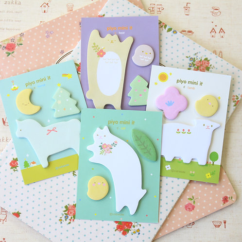 piyo mini it animals shapes cartoon sticky notes