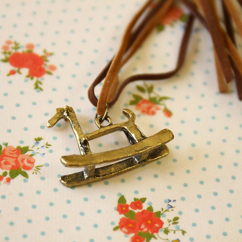 trojan horse novelty necklace