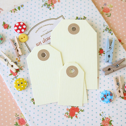 ivory lint luggage tags