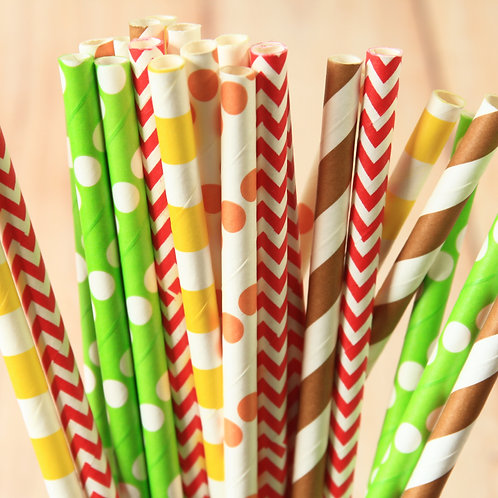 harvest table mix paper straws