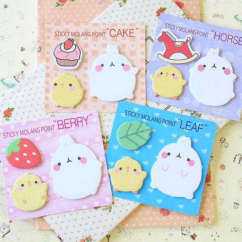 sticky molang point potato rabbit cartoon sticky notes