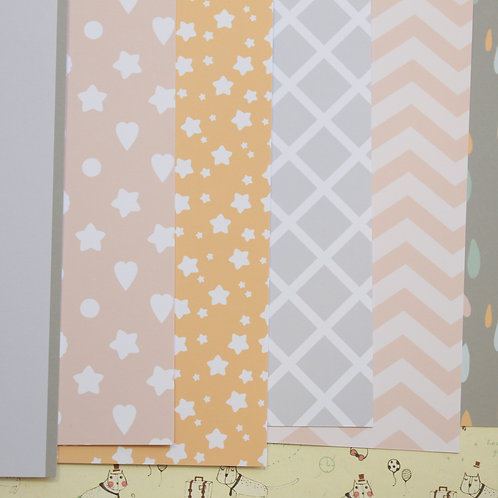 set 01 baby shower mix printed card stock
