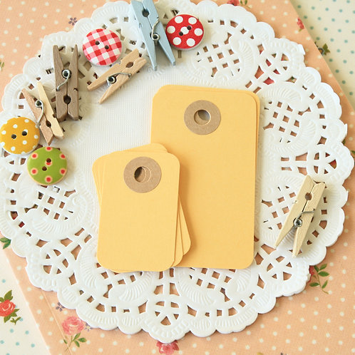 maize yellow rounded rectangle tags