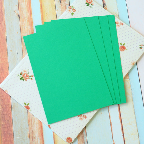 emerald green craft style blank postcards
