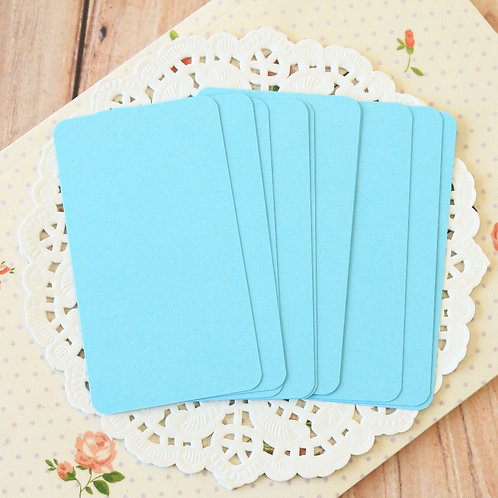 celestial blue blank business cards