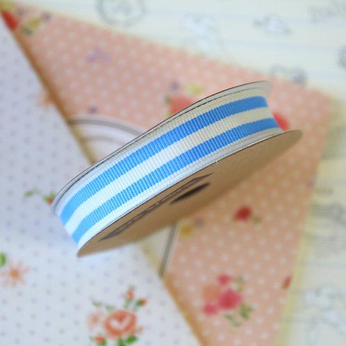 jane means pastel blue stripe grosgrain ribbon
