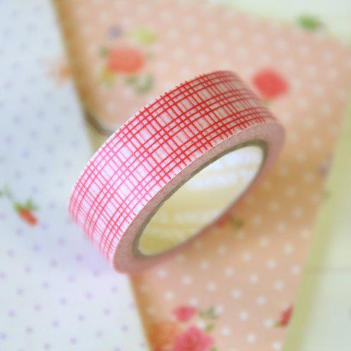 red lattice washi tape