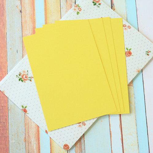 dandelion yellow craft style blank postcards