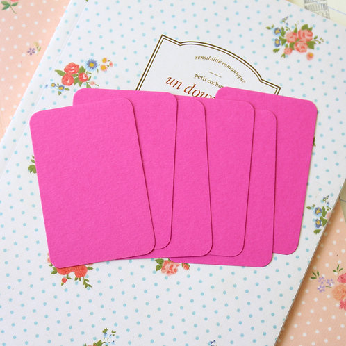 raspberry pink papermill colour blank business cards