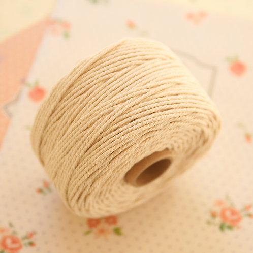 natural twisted cotton bakers twine 80m