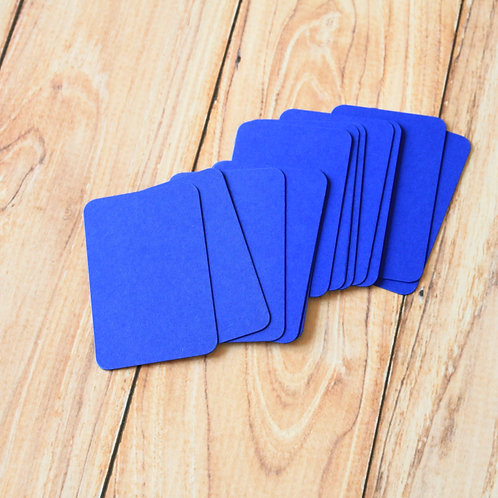 royal blue blank business cards